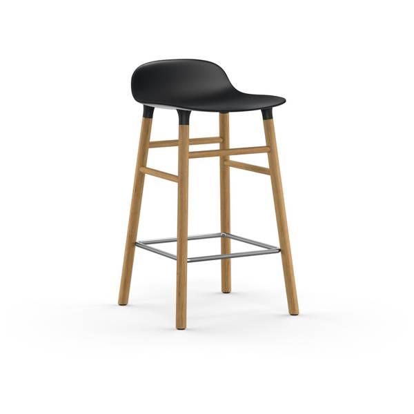 Bilde av Form Barstool 65 cm Oak - Black