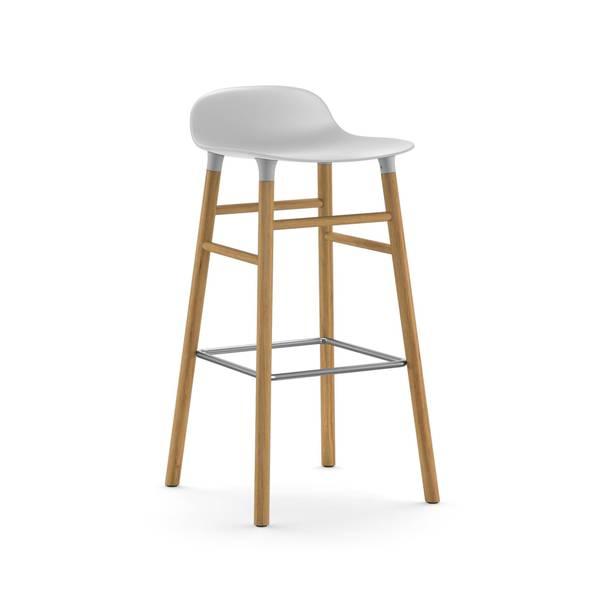Bilde av Form Barstool 65 cm Oak - White