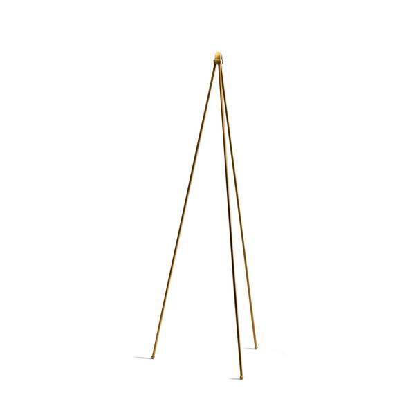 Bilde av Oslo wood gulvlampe stativ gull - Utstilling